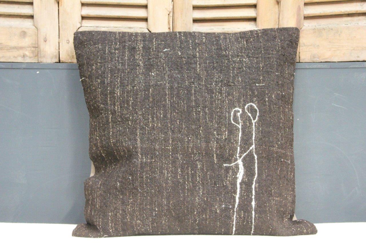 Kussen uit Turkije  60cm x 60cm incl binnenkussen katoenen achterkant (beige) Nr 21259