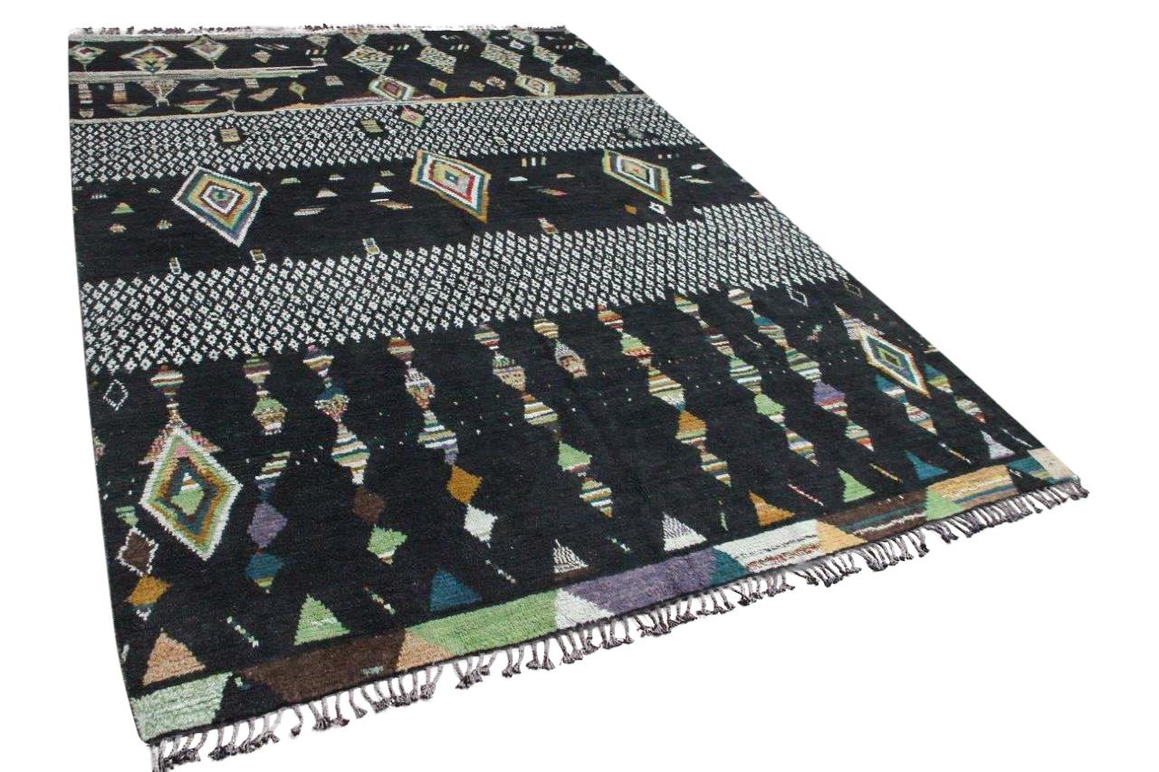 Azilal vloerkleed zwart 13110 431cm x 299cm