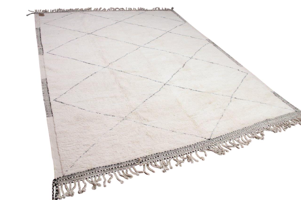 Beni ouarain hoogpolig vloerkleed uit Marokko 41410 410cm x 316cm