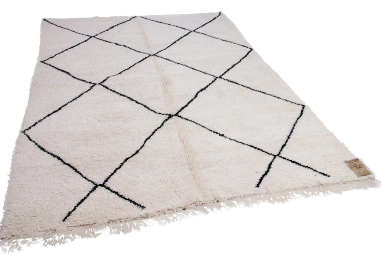 Beni ouarain hoogpolig vloerkleed uit Marokko 41415 304cm x 210cm
