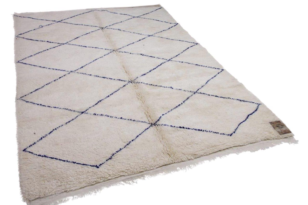 Beni ouarain hoogpolig vloerkleed uit Marokko 41423 280cm x 197cm