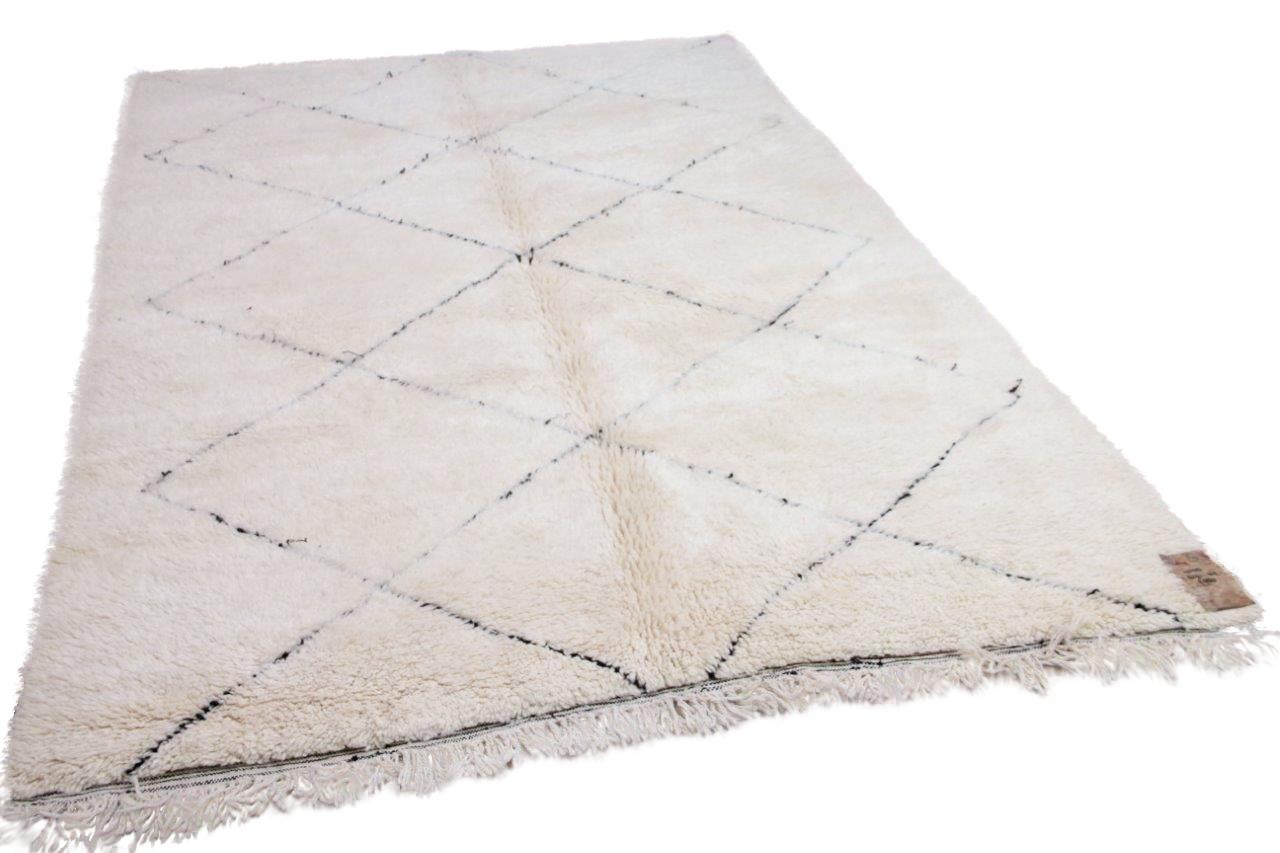 Beni ouarain hoogpolig vloerkleed uit Marokko 41425 302cm x 205cm