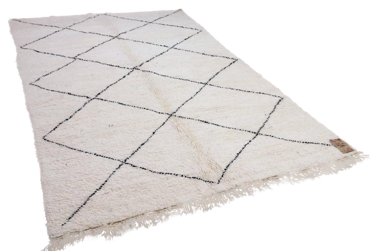 Beni ouarain hoogpolig vloerkleed uit Marokko 41428 297cm x 197cm