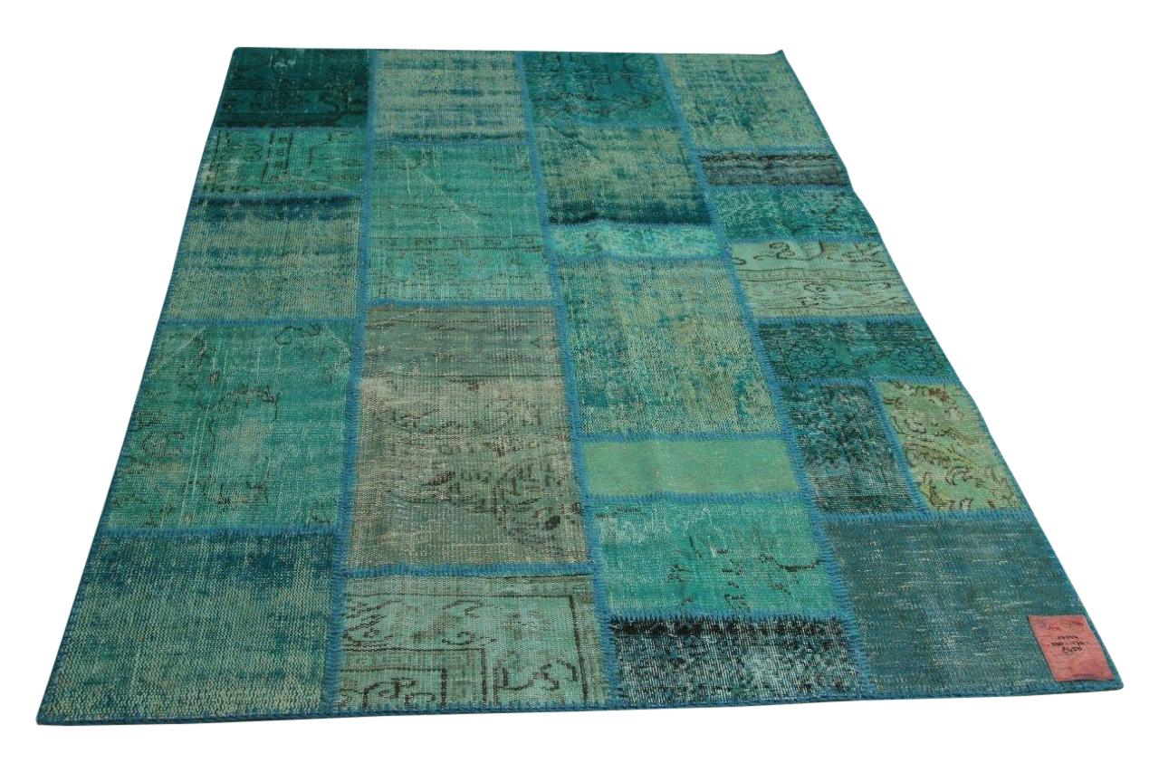 Blauw patchwork vloerkleed 240cm x 170cm nr10344