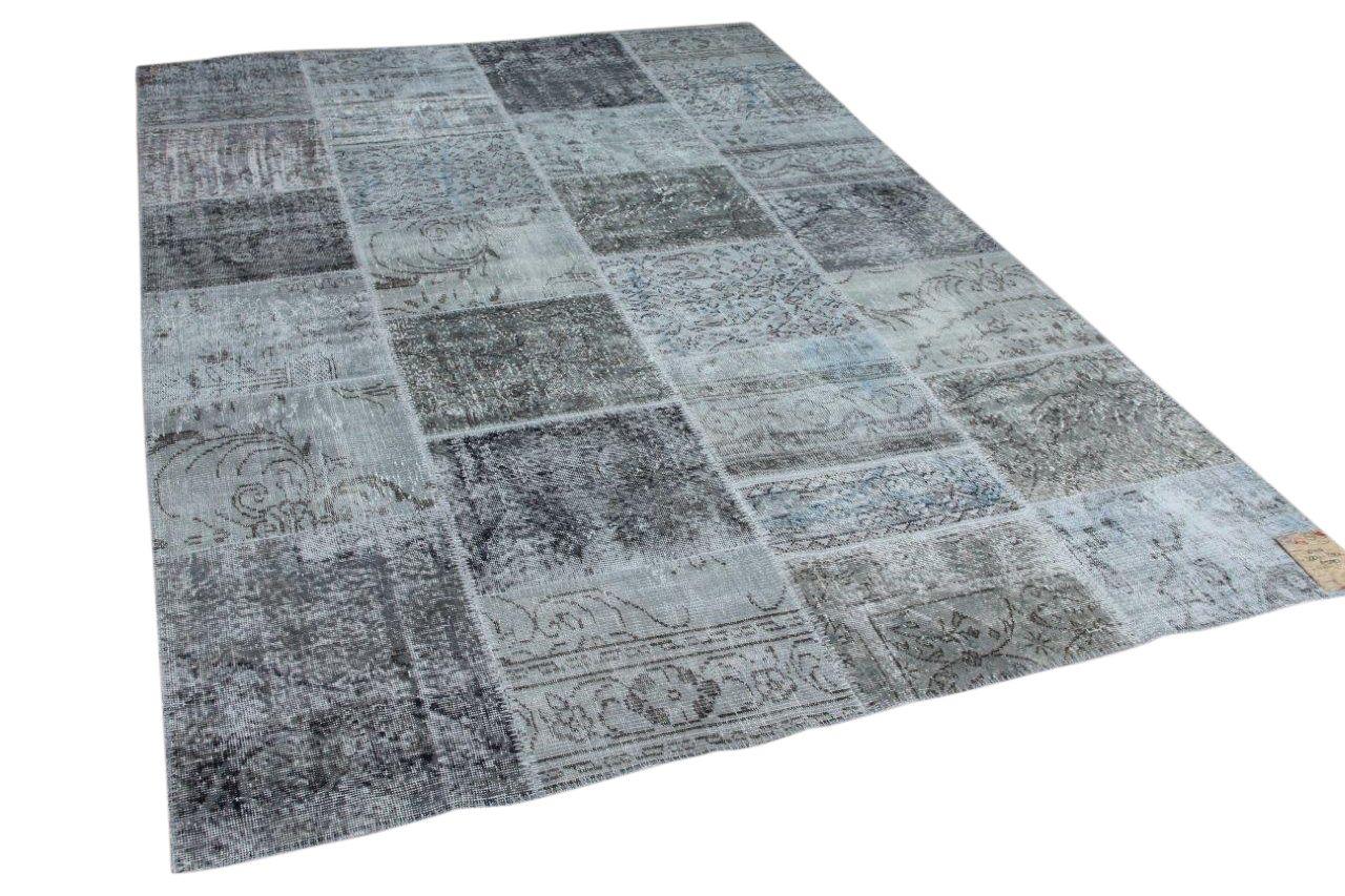 Patchwork grijs vloerkleed 10119 300cm x 200cm