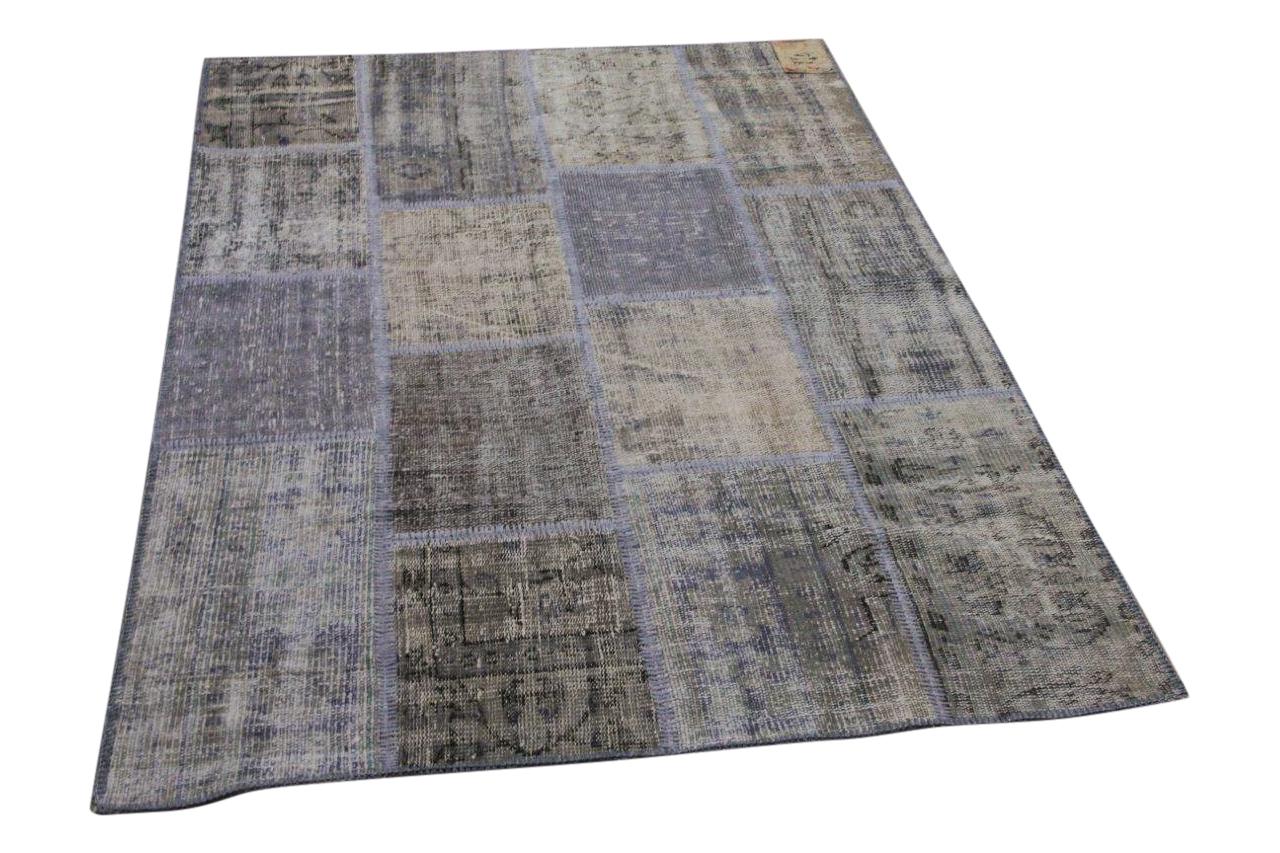Vintage patchwork grijs