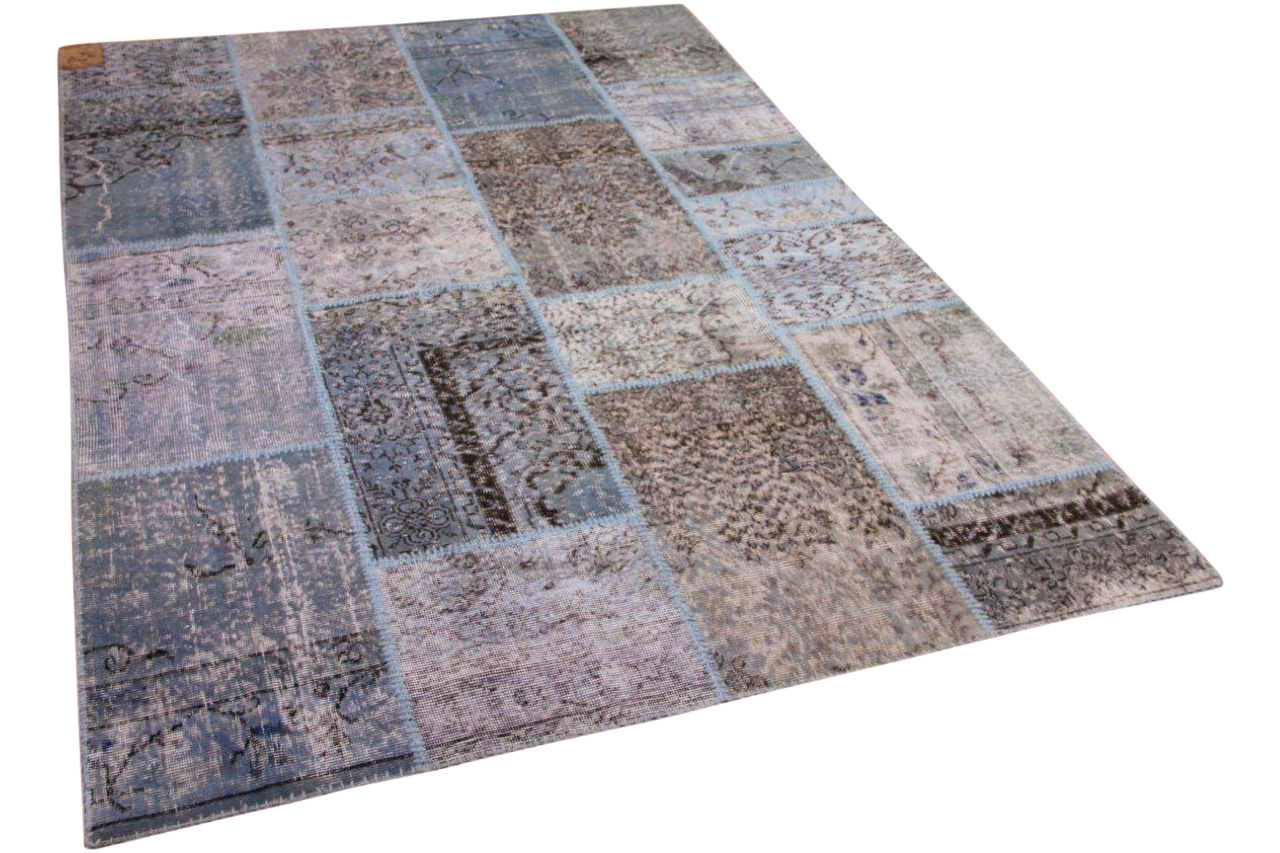 Patchwork vloerkleed blauw 10757 240cm x 170cm