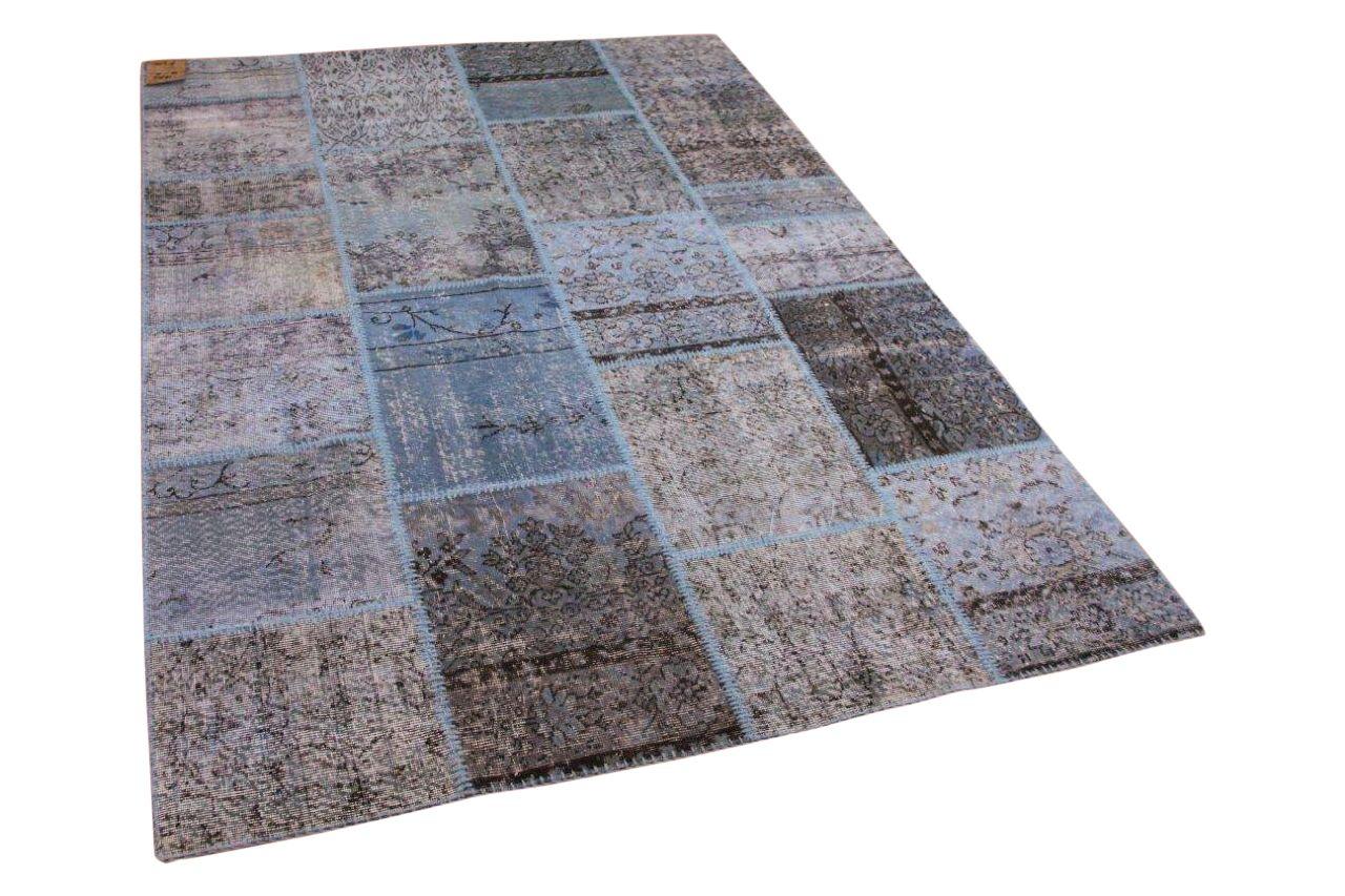 Patchwork vloerkleed blauw 10758 240cm x 170cm