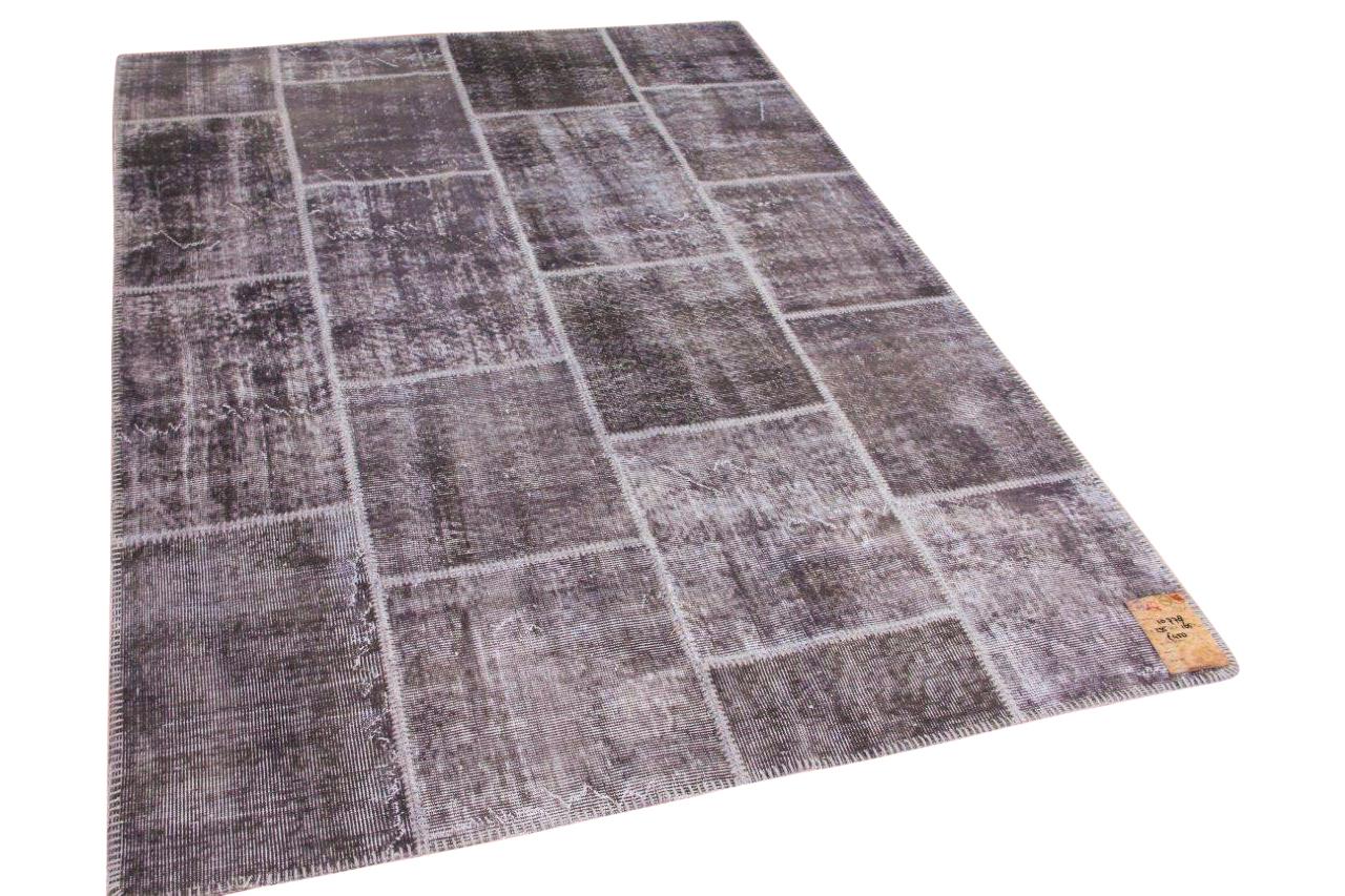 Patchwork vloerkleed grijs 10778 235cm x 165cm