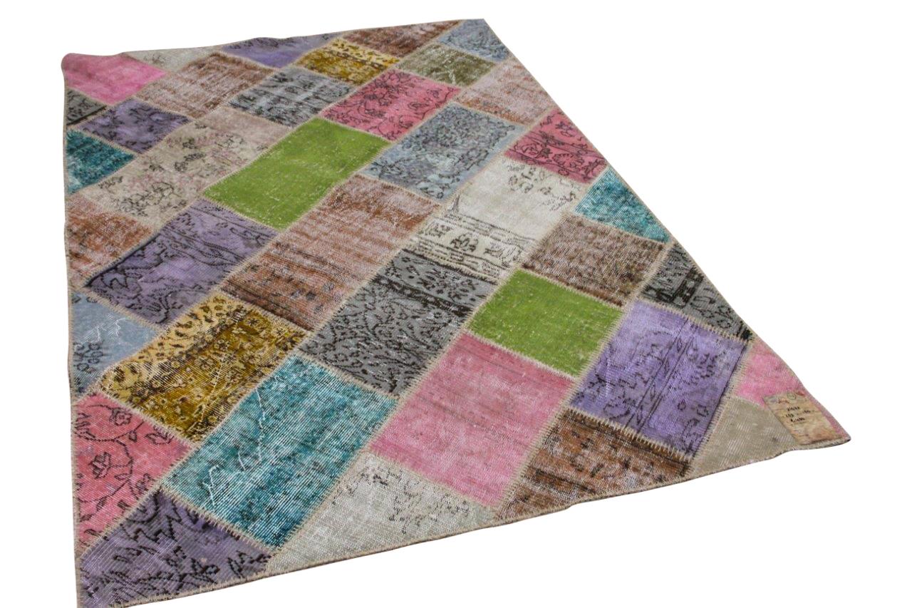 Patchwork vloerkleed diverse kleuren nr.21672 233cm x 160cm