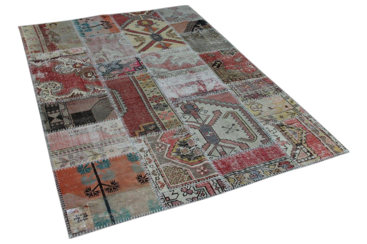 Patchwork diverse kleuren vloerkleed nr: 71432, 238cm x 168cm
