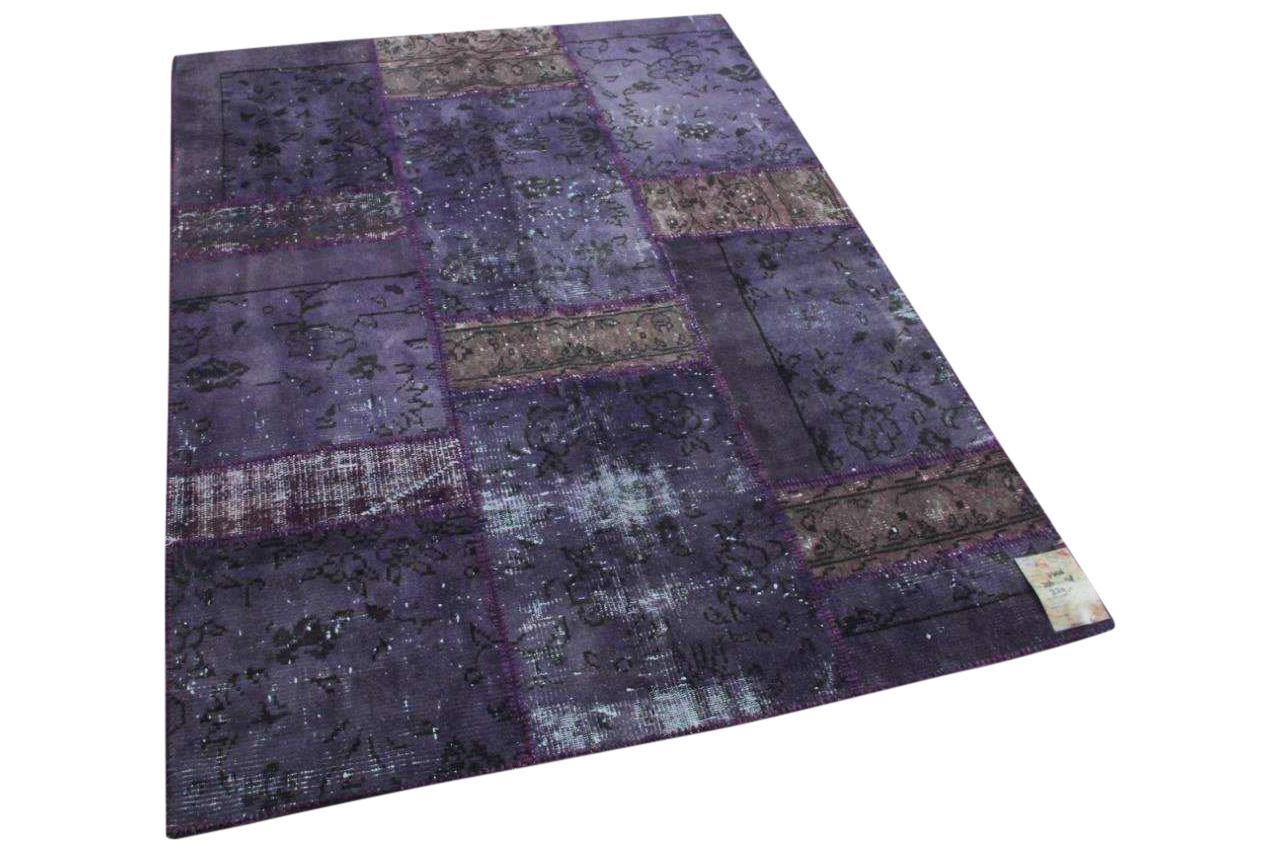 Paars patchwork vloerkleed 206cm x 175cm