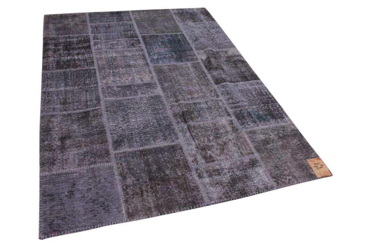 Patchwork vloerkleed grijs 8743 240cm x 170cm