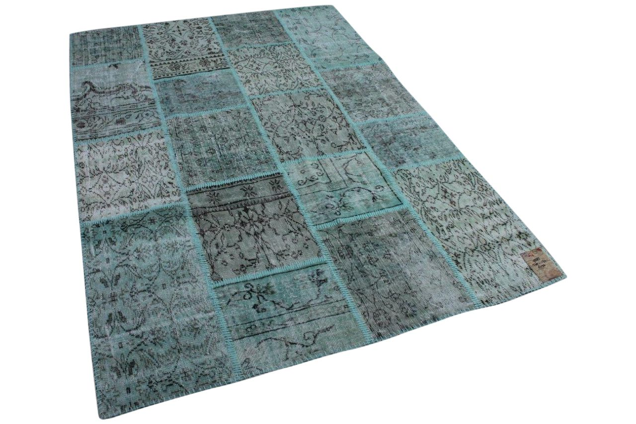 Patchwork vloerkleed grijs 9885 240cm x 170cm