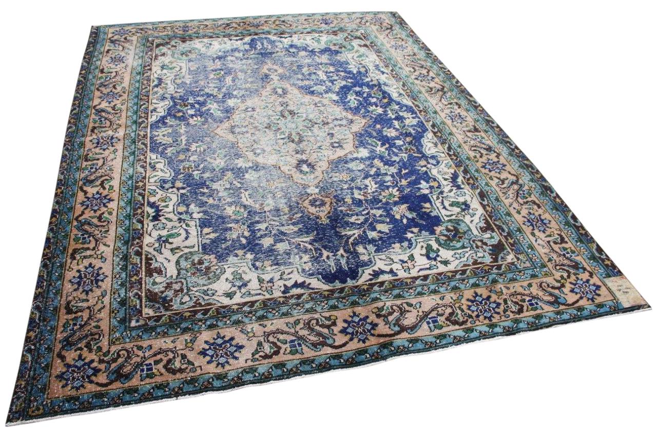 Vintage vloerkleed blauw 11011 292cm x 224cm