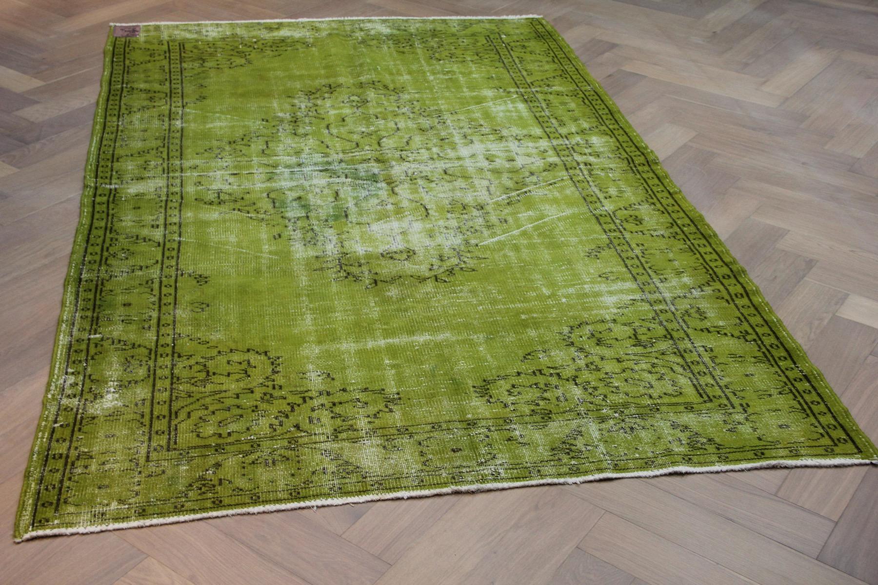 Vintage vloerkleed groen 183678 292cm x 206cm