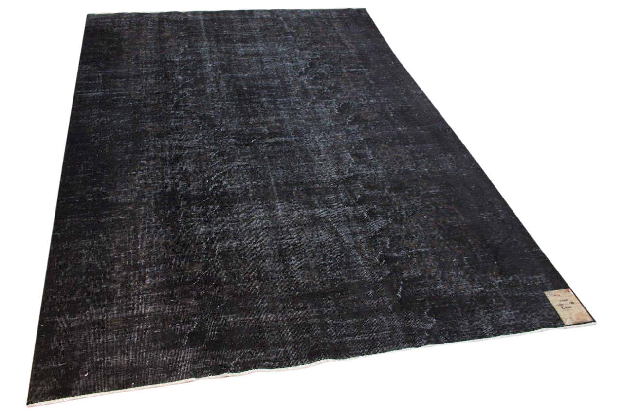 Vintage vloerkleed zwart 11022 280cm x 186cm