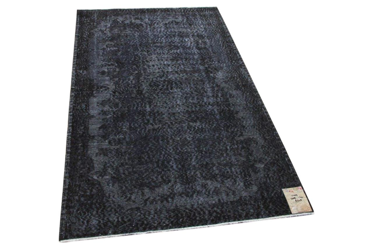 Vintage vloerkleed zwart 1109 208cm x 120cm