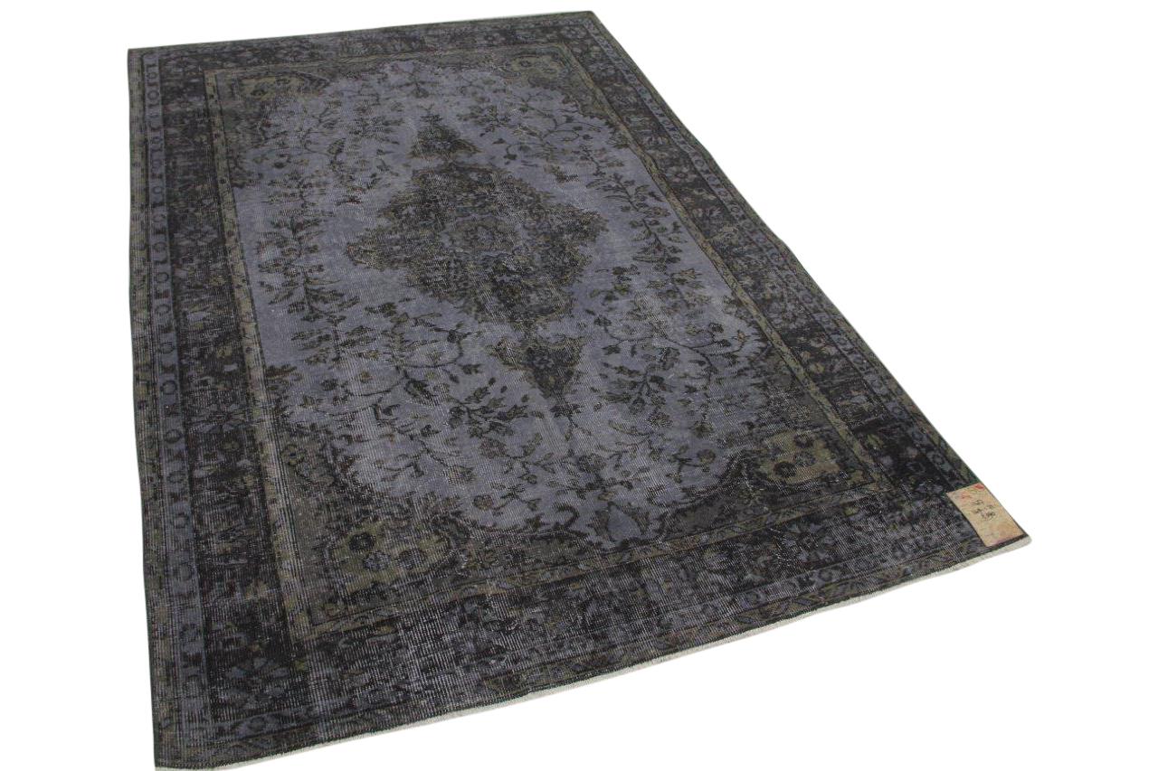 Vintage vloerkleed grijs 11427 248cm x 172cm