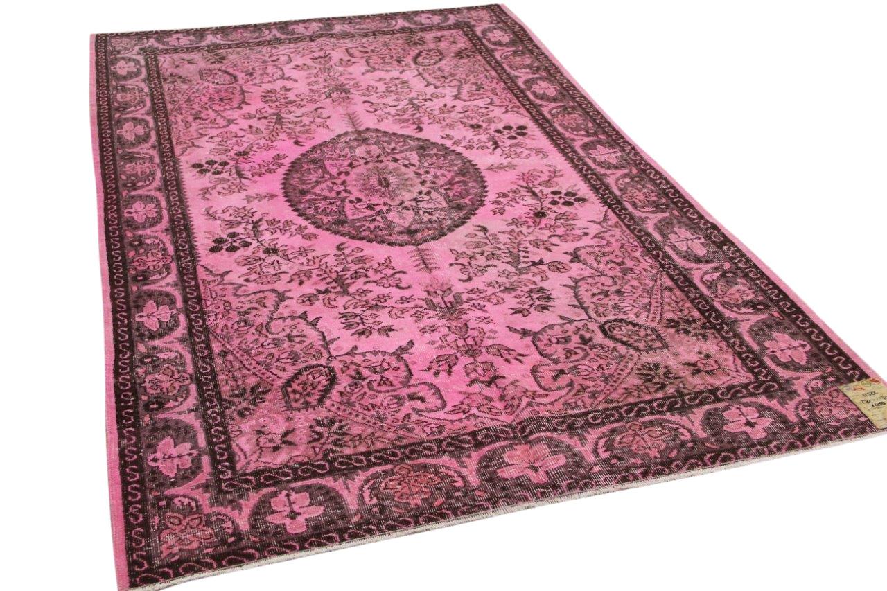 Vintage vloerkleed roze 12522 270cm x 170cm