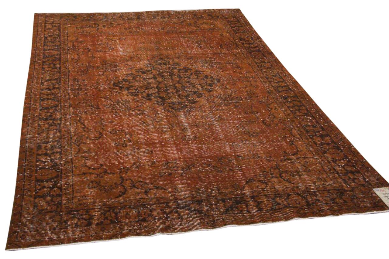 Vintage vloerkleed bruin 23647