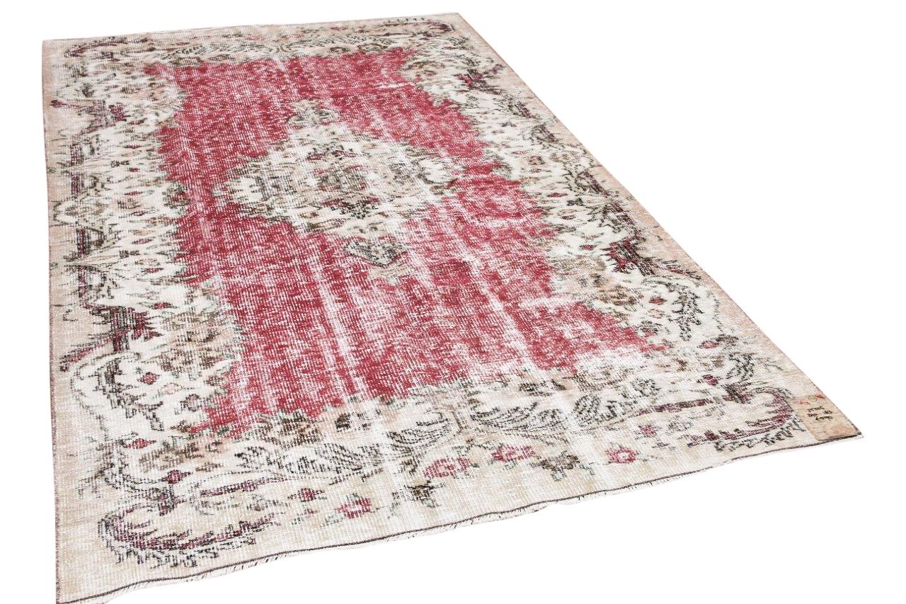 Vintage vloerkleed rood 25225 290cm x 183cm