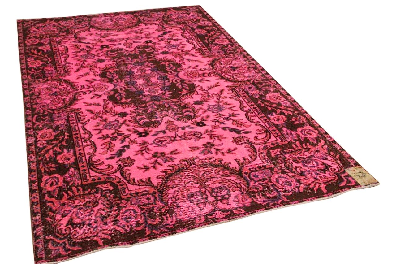 Vintage vloerkleed roze 27288 290cm x 176cm