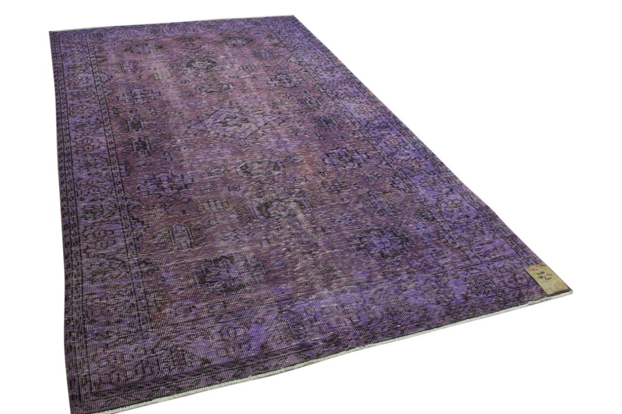 Vintage vloerkleed paars 298cm x 179cm