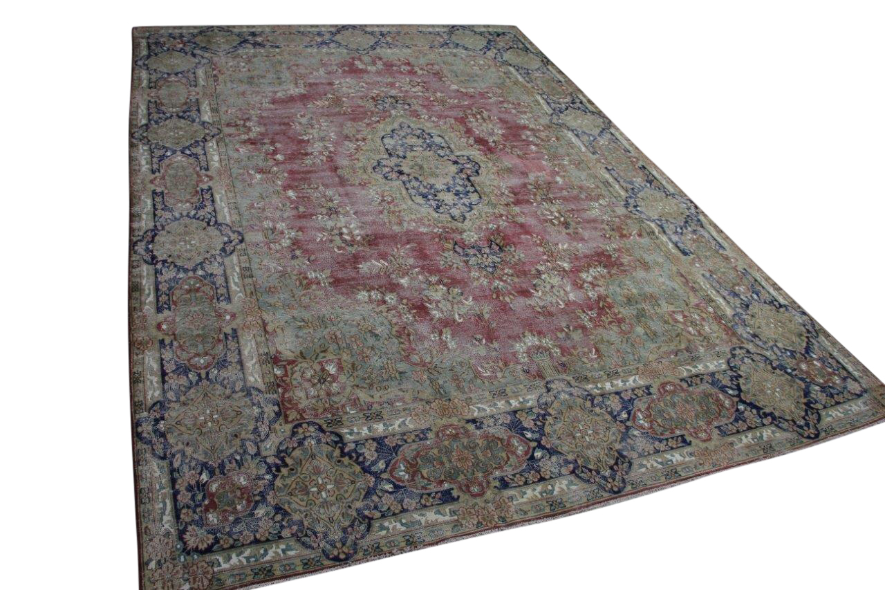 Vintage vloerkleed met rood 58411 412cm x 290cm