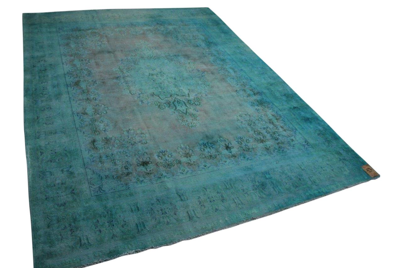 Vintage vloerkleed blauw 58460 385cm x 293cm