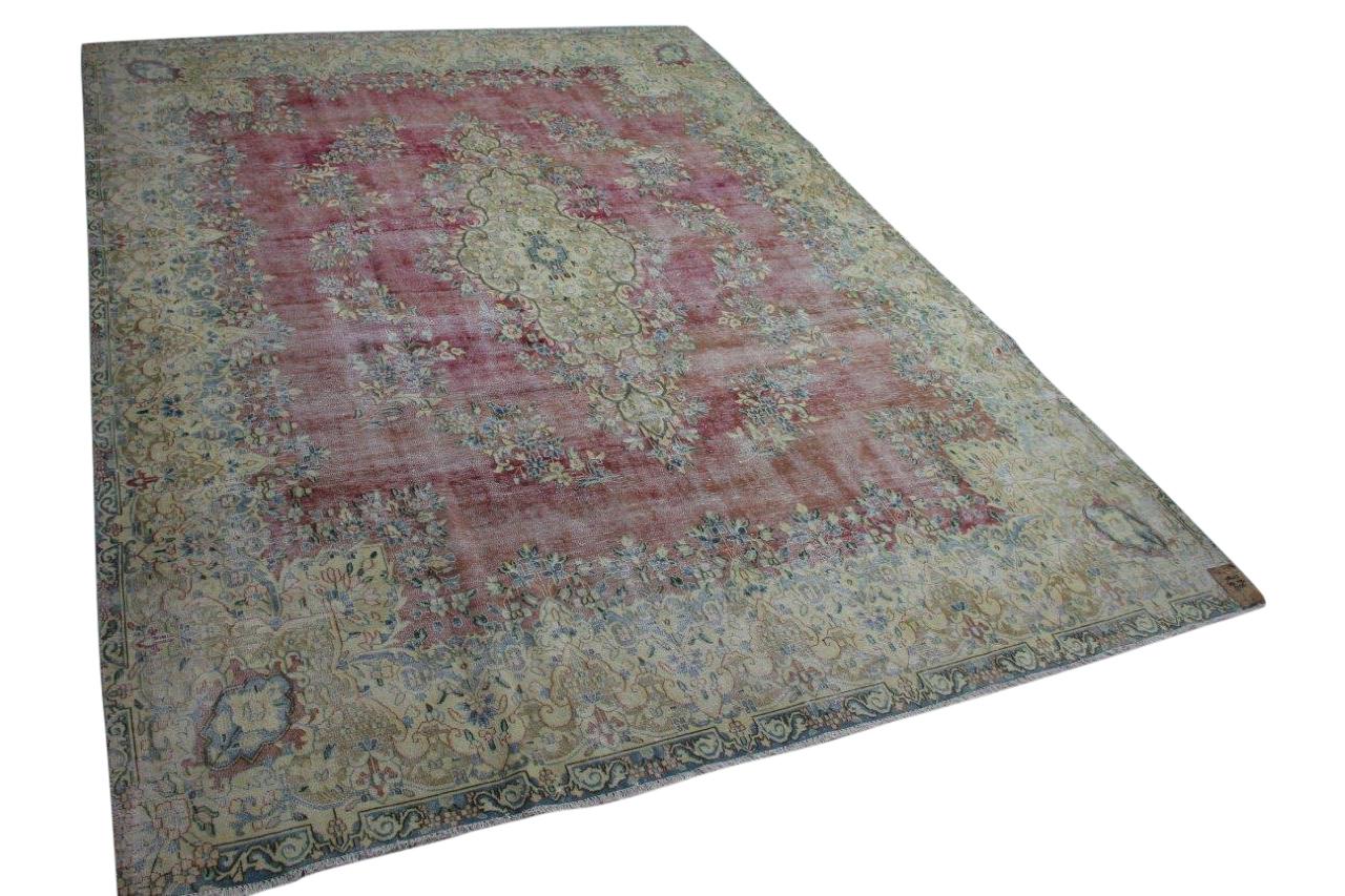 Vintage vloerkleed met rood 58473 390cm x 290cm