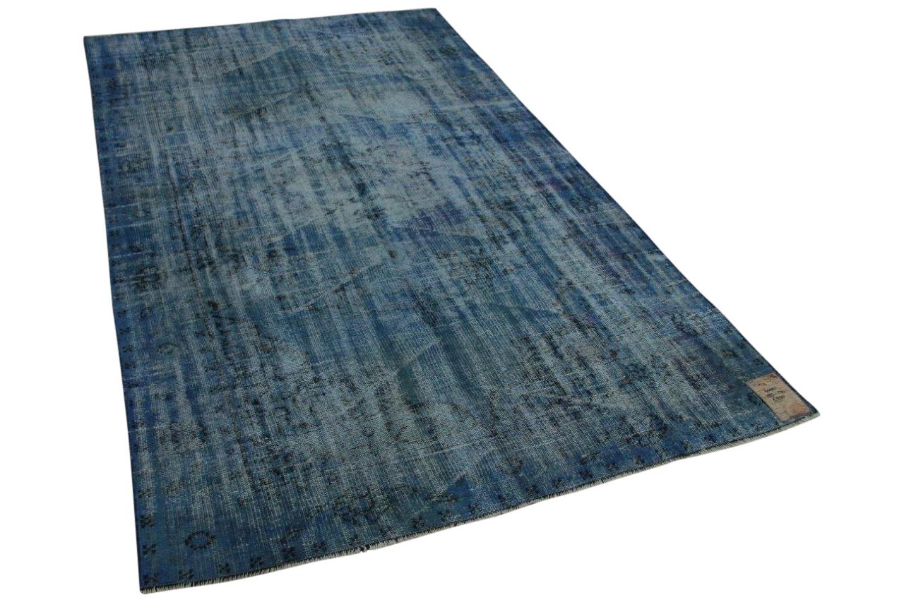 Vintage vloerkleed blauw, 283cm x 170cm, nr64321