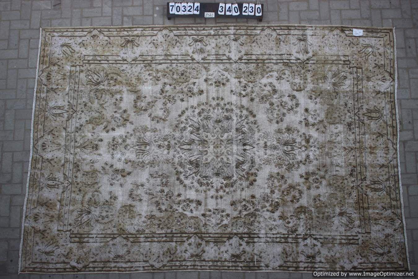 Vintage vloerkleed zandkleur, 70324, 340cm x 230cm