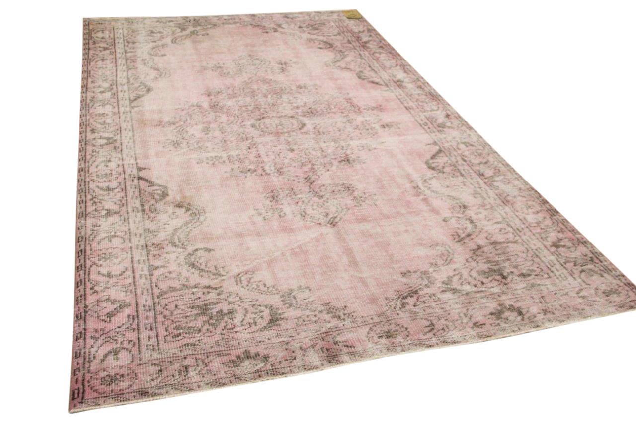 Vintage vloerkleed roze 9943 302cm x 178cm